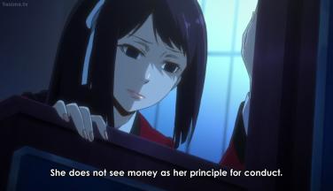 Sakaya reflecting on Yumeko's carefree spirit.